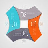 Abstract infographic with numbered elements - vector illustration poster