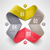 Abstract shape with infographics elements - vector illustration poster