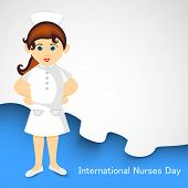 International nurse day concept with illustration of a nurse. poster