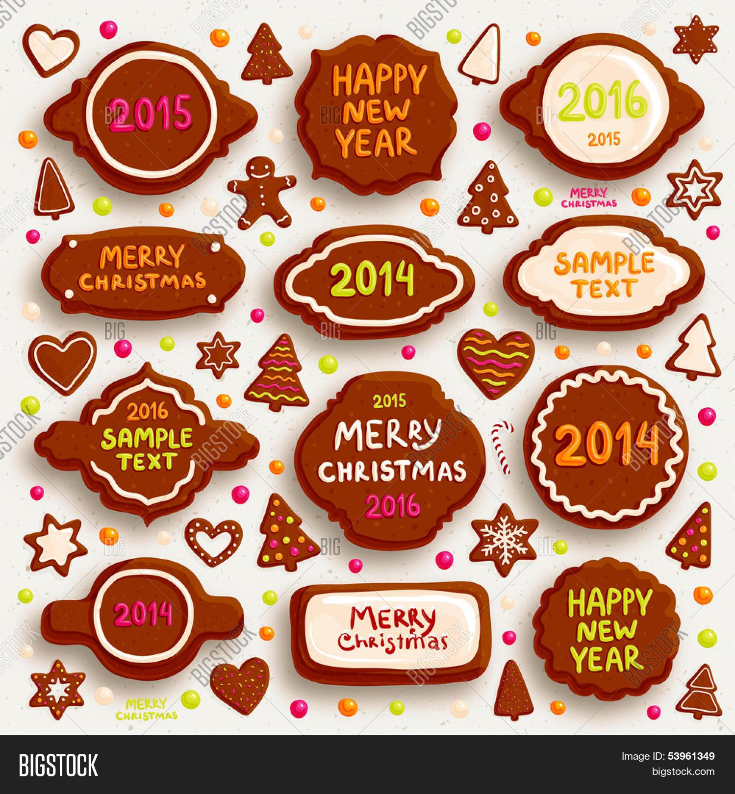 Christmas Cookies Set Vector & Photo (Free Trial)   Bigstock