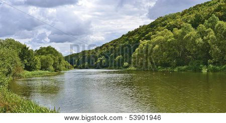 Lake,  Duckes, Forest And Sky