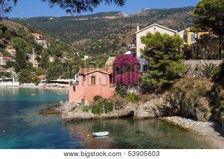 Traditional Fishing Village Of Assos At Kefalonia, Greece