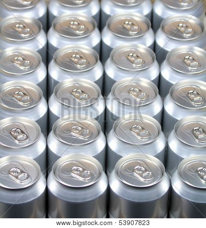 Aluminum drink cans.