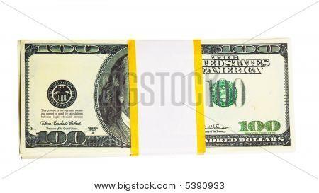Ten Thousand U.s. Dollars In A Bundle