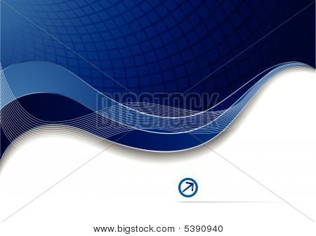 Vector Blue Corporate Template.eps