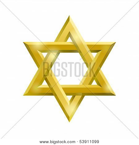 Golden David star