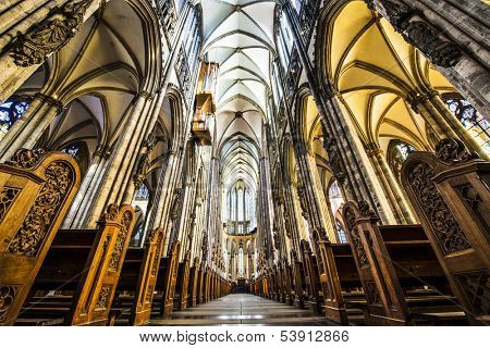 COLOGNE - OCTOBER 3: Cologne Cathedral October 3, 2013 in Cologne, Germany. It was completed in 1880.