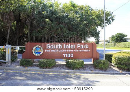 South Inlet Park Sign