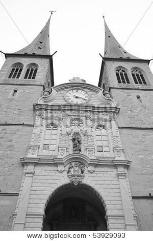 Hofkirche Cathedral In Luzerne.