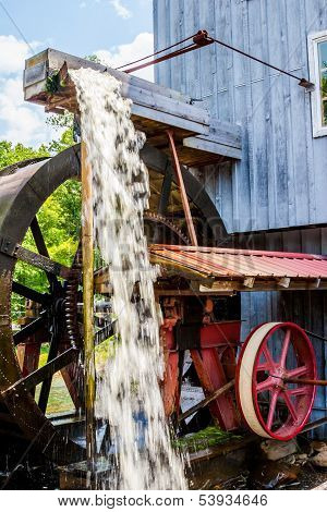 Flowing Water Wheel