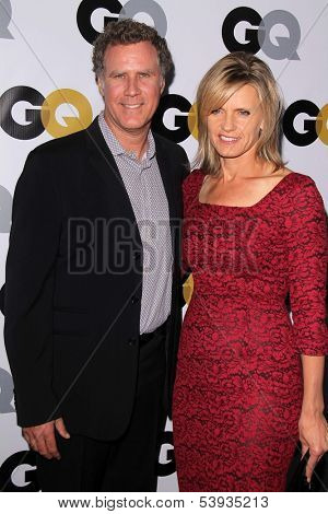 LOS ANGELES - NOV 12:  Will Farrell, Viveca Paulin at the GQ 2013