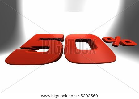Fifty Percent 3D Banner