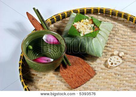 Lotus in traditional things in Vietnam