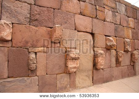 Underground Temple - Semisubterraneo - with many heads, Tiwanaku