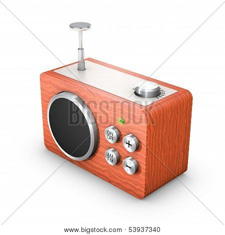 3D vintage touch radio receiver