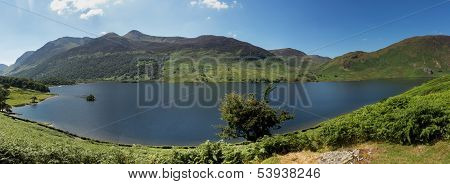 Reflection On Lake District Hills In Crummock