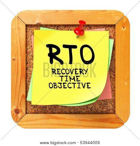 RTO . Yellow Sticker on Bulletin.