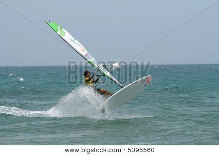 Windsurfer Iballa Ruano Moreno In Competition Pwa