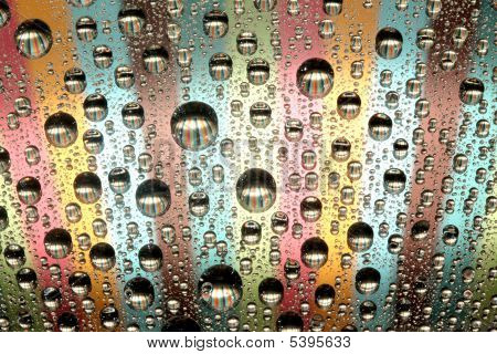 colorful water drops