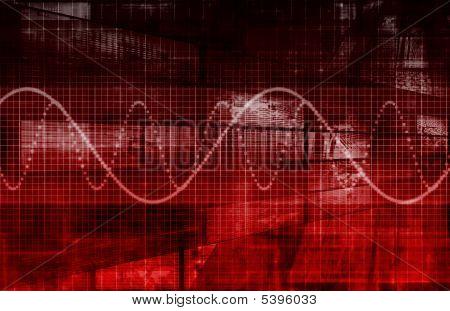 Modern Digital Background as a Creative Art poster