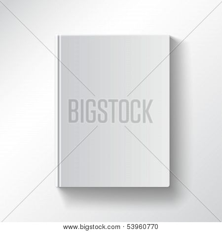Blank book cover vector gradient mesh