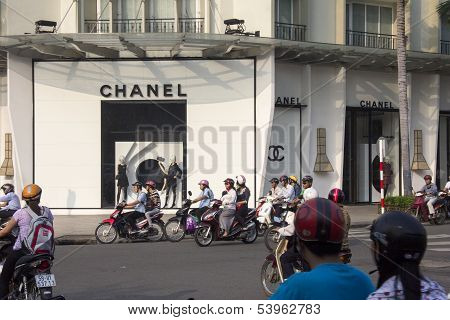 Ho Chi Minh City, Vietnam-oct 29Th: The Chanel Store On October 29Th 2013. The Store Located In The