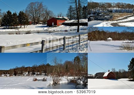 Collage of Country Snow
