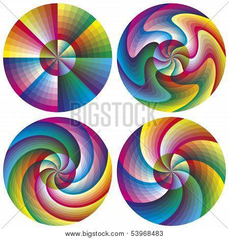 Vector Color Chart Set