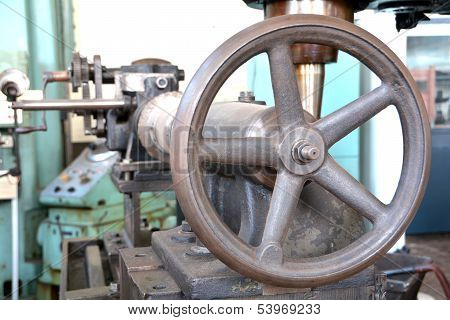 Detail of an old machine
