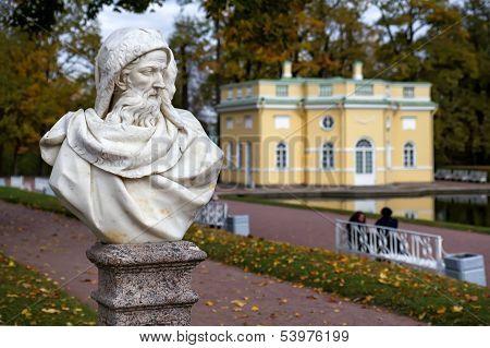 Statue In The Catherine Park In Pushkin (former Tsarskoe Selo),st.petersburg, Russia