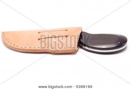 Biltong Knife In Leather Bag