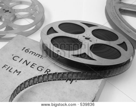 16mm film reel poster