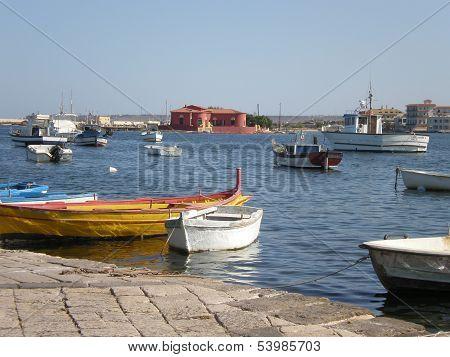 Fishermens' city in Sicily
