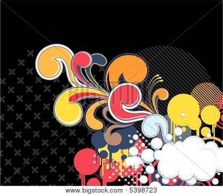 80s style cool design elements background, individual objects very easy to edit poster