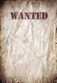 Antique poster - Wanted dead or alive poster