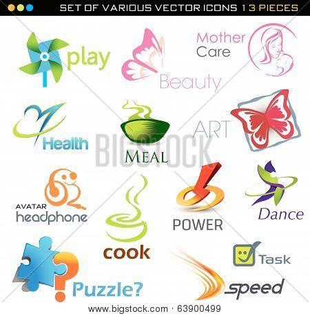 icons set- 13 vector pieces