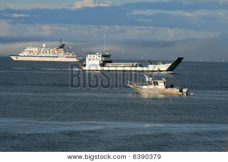 ships and boats.  Industry