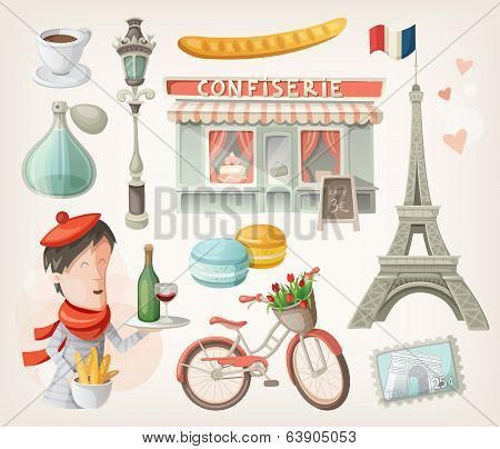 Set Of French Items