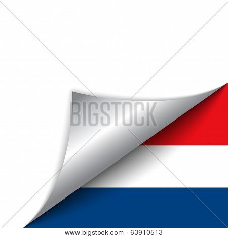 Netherlands Country Flag Turning Page