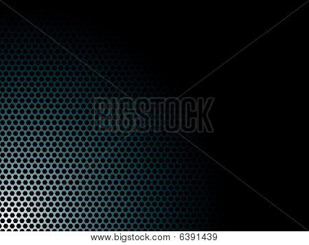 Heksagon blau