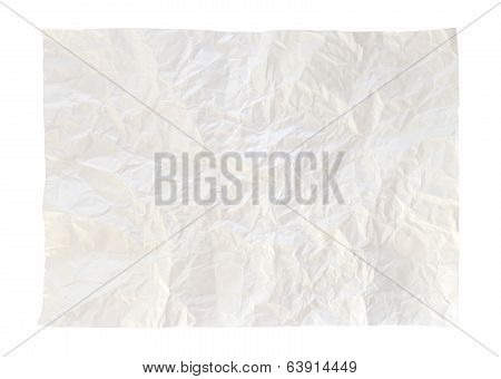 Crumpled paper isolated on a white background poster