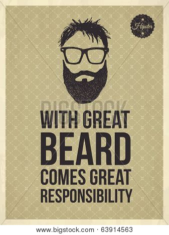 Hipster quotes: With greate beard comes great responsibility
