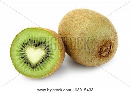 Kiwi fruit with heart shape