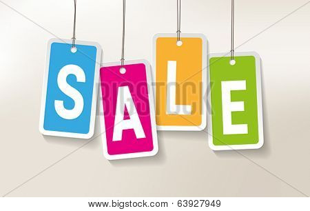 Colorful Price Tags with a SALE sign.
