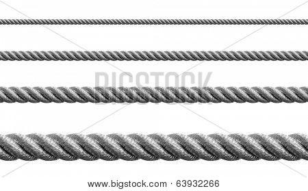 Steel metal hawser set isolated