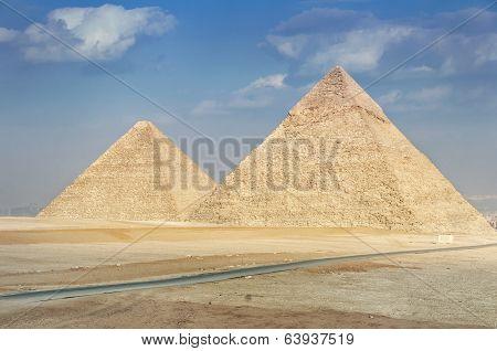 Pyraimds In Giza, Egipt