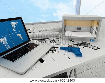 3d printing technology, printing gun