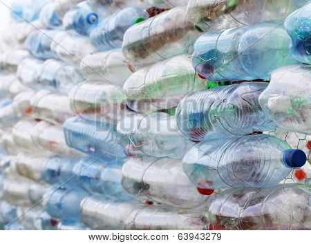 Pet bottles - abstract wall