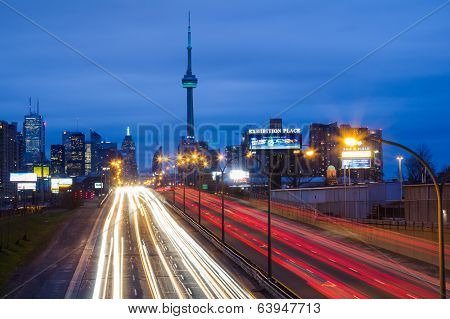 Toronto East Gardiner Expressway and the City