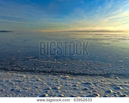 Frozen Penobscot River Maine